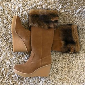 UGG Suede Wedge Boots NWT